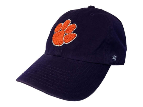 Clemson Tigers 47 Brand Purple Clean Up Adjustable Strapback Slouch Hat Cap