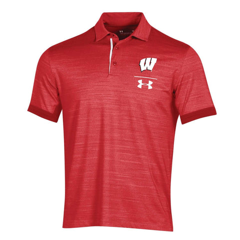 Wisconsin Badgers Under Armour Red HeatGear Loose Sideline Vented Playoff Polo
