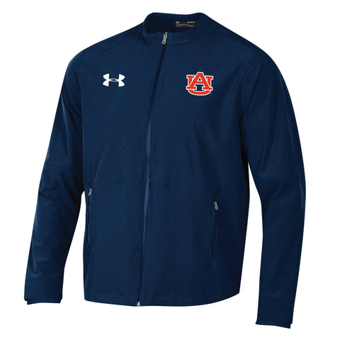 Auburn Tigers Under Armour Navy Full Zip Storm Loose Sideline Warmup Jacket