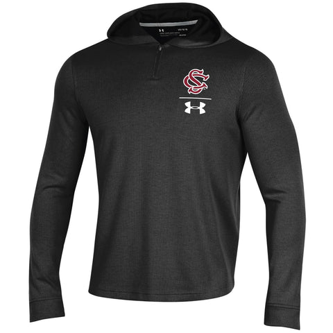 South Carolina Gamecocks Under Armour 1/4 Zip Sideline Waffle Hoodie Pullover