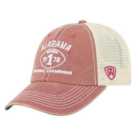 Alabama Crimson Tide TOW 40th Anniversary 1978 Football Champions Mesh Hat Cap