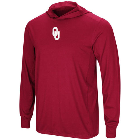 Oklahoma Sooners Colosseum Crimson LS Hooded T-Shirt - Sporting Up