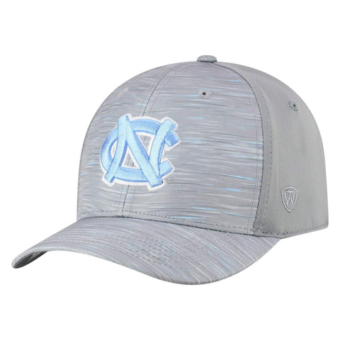 "North Carolina Tar  Heels TOW Gray ""Hyper"" Memory Fit Hat Cap"