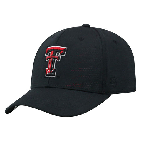 "Texas Tech Red Raiders TOW Black ""Dazed"" Structured Flexfit Hat Cap"