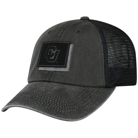 "Colorado Buffaloes TOW Black ""Land"" Mesh Adj. Relax Hat Cap"