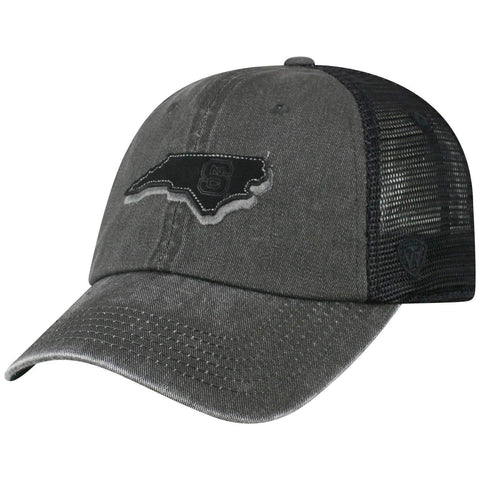 "NC State Wolfpack TOW Black ""Land"" Mesh Adj. Relax Hat Cap"