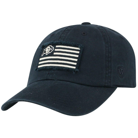 "Colorado Buffaloes TOW Black ""Flag 4"" Crew Adj. Relax Hat Cap"