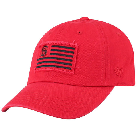 "NC State Wolfpack TOW Red ""Flag 4"" Crew Adj. Relax Hat Cap"