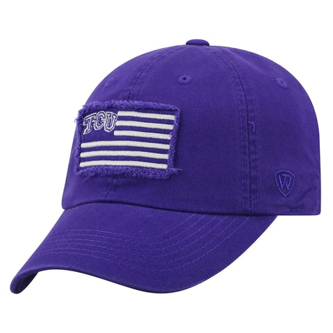 "TCU Horned Frogs TOW Purple ""Flag 4"" Crew Adj. Relax Hat Cap"