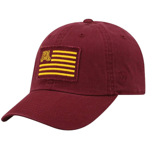"Minnesota Golden Gophers TOW Maroon ""Flag 4"" Crew Adj. Relax Hat Cap"