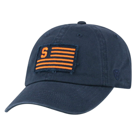"Syracuse Orange TOW Navy ""Flag 4"" Crew Adj. Relax Hat Cap"