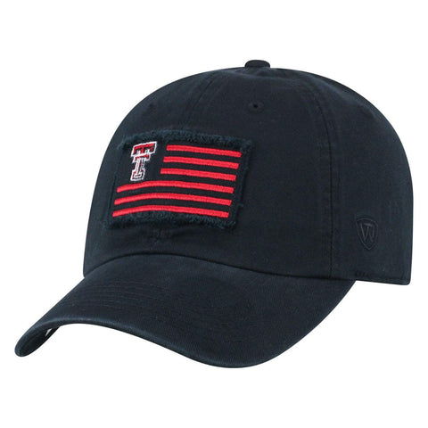 "Texas Tech Red Raiders TOW Black ""Flag 4"" Crew Adj. Relax Hat Cap"