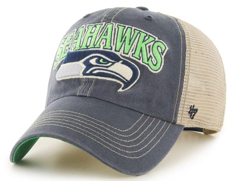 Seattle Seahawks 47 Brand Vintage Navy Tuscaloosa Mesh Adj. Slouch Hat Cap