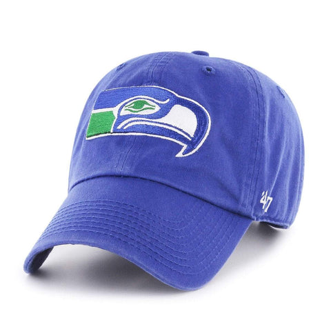 Seattle Seahawks 47 Brand Royal Blue Legacy Clean Up Adj. Slouch Hat Cap