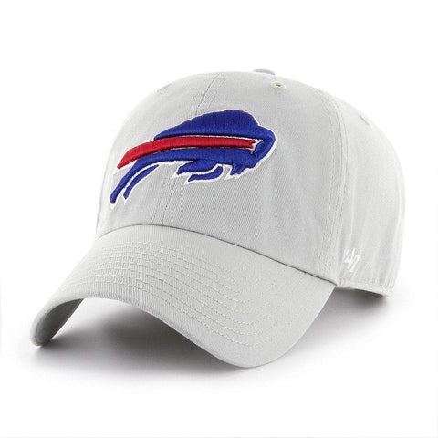 Buffalo Bills 47 Brand Gray Clean Up Adj. Slouch Hat Cap