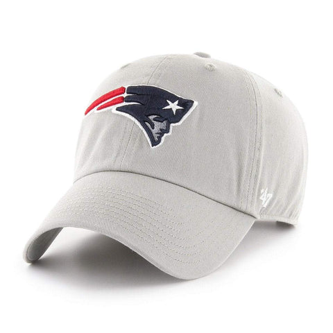a1093d2dc4141 New England Patriots 47 Brand Gray Clean Up Adj. Slouch Hat Cap