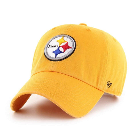 Pittsburgh Steelers 47 Brand Gold Yellow Clean Up Adj. Slouch Hat Cap 703d5d8ab