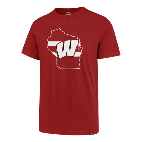 Wisconsin Badgers 47 Brand Red Regional Super Rival T-Shirt