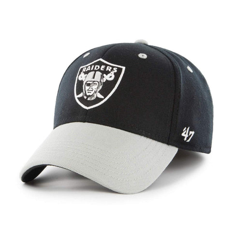 ... czech oakland raiders 47 brand two tone contender stretch fit hat cap  ca908 1e14a 3511ec2ef1ca