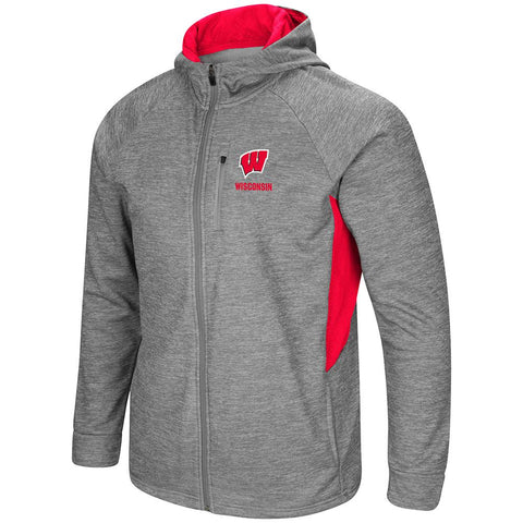 Wisconsin Badgers Colosseum All Them Teeth Full Zip Hoodie Jacket