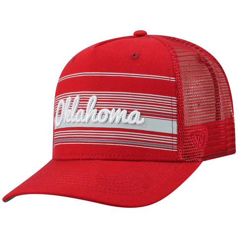 "Oklahoma Sooners TOW Red ""2Iron"" Structured Mesh Adj. Hat Cap"