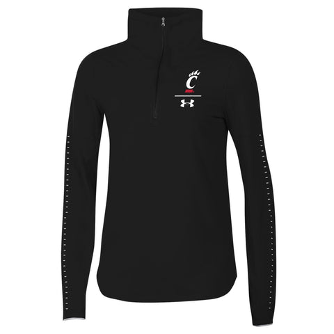 Cincinnati Bearcats Under Armour WOMEN'S 1/2 Zip HeatGear Sideline Pullover