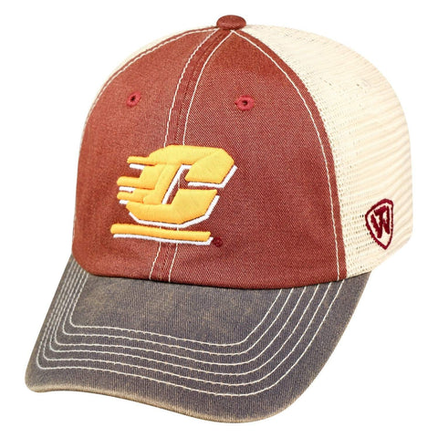 Central Michigan Chippewas TOW Maroon Offroad Mesh Snapback Hat Cap - Sporting Up