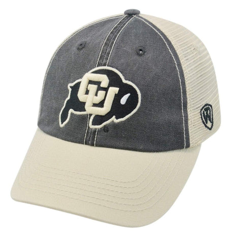 Colorado Buffaloes TOW Black Gold Offroad Mesh Snapback Hat Cap