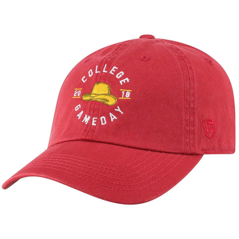 Oklahoma Sooners 2018 ESPN College Gameday TOW Red Adj. Relax Hat Cap