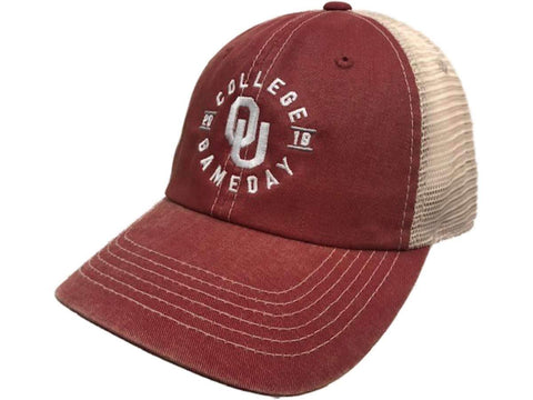 Oklahoma Sooners 2018 ESPN College Gameday TOW Red Mesh Adj. Relax Hat Cap - Sporting Up