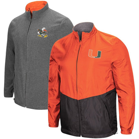 "Shop Miami Hurricanes ""Halfback"" Reversible Polar Fleece/Rain Jacket"