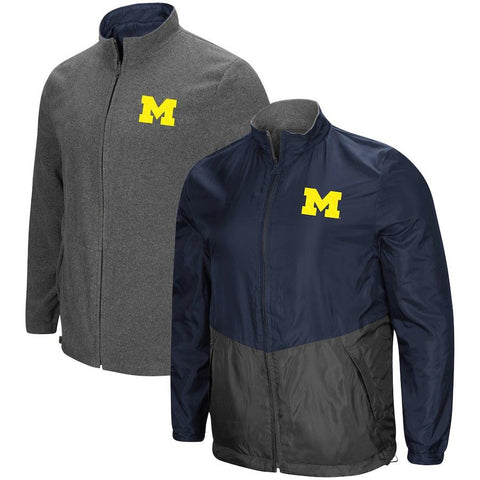 "Shop Michigan Wolverines ""Halfback"" Reversible Polar Fleece/Rain Jacket"