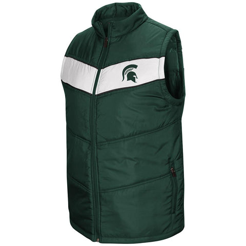 "Shop Michigan State Spartans Colosseum ""Red Beaulieu"" Full Zip Puffer Vest"