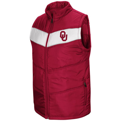 "Oklahoma Sooners Colosseum ""Red Beaulieu"" Full Zip Puffer Vest - Sporting Up"