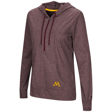 "Minnesota Golden Gophers WOMEN'S ""Sugar"" 1/2 Zip Thermal Hoodie T-Shirt"