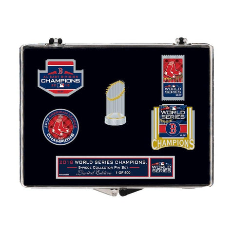 0ef65f1e0f42e Shop Boston Red Sox 2018 MLB World Series Champions Limited Edition Pin Set  (5 Pack