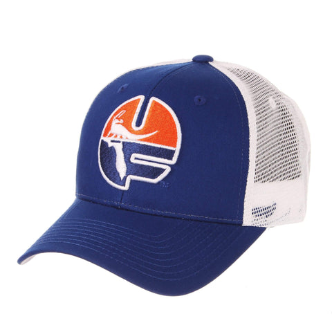 7b8fb31cd10ac Shop Florida Gators Zephyr Blue Big Rig 1979 Retro Mesh Structured Snapback  Hat Cap