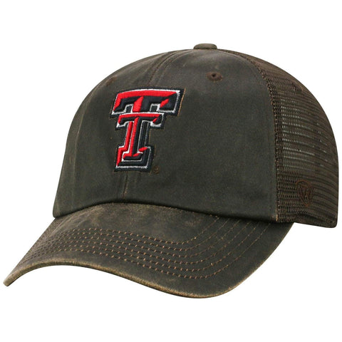 "Texas Tech Red Raiders TOW Brown ""Chestnut"" Style Mesh Adj. Strap Relax Hat Cap"