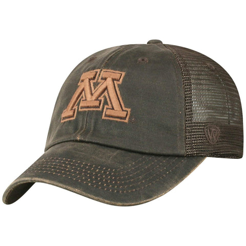 "Minnesota Golden Gophers TOW Brown ""Chestnut"" Style Mesh Adj. Relax Hat Cap"