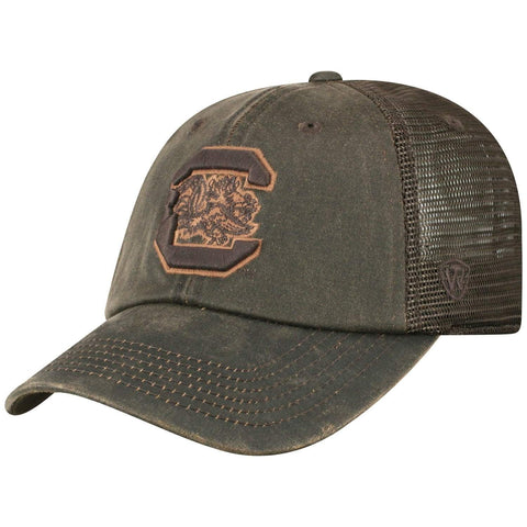 "South Carolina Gamecocks TOW Brown ""Chestnut"" Style Mesh Adj. Relax Hat Cap"
