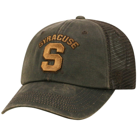 "Syracuse Orange TOW Brown ""Chestnut"" Style Mesh Adj. Relax Hat Cap"