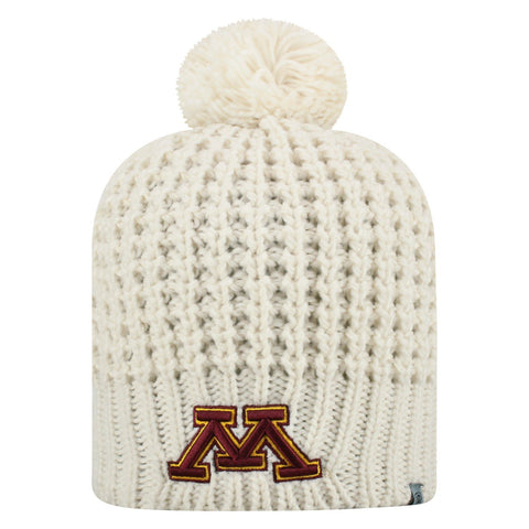 "Minnesota Golden Gophers TOW Women's Ivory ""Slouch"" Soft Knit Poofball Beanie"