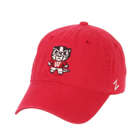 Shop Wisconsin Badgers Zephyr Tokyodachi Shibuya Red Adj. Slouch Hat Cap