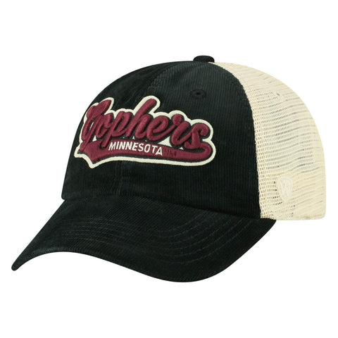 "Minnesota Golden Gophers TOW ""Rebel"" Corduroy & Mesh Snapback Relax Hat Cap"