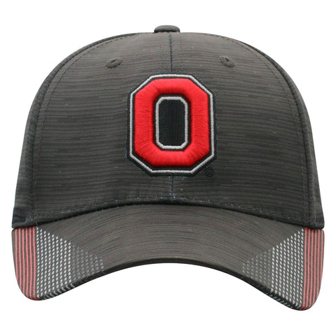 "Ohio State Buckeyes TOW Black ""Trace"" Structured Flexfit Fitted Hat Cap (M/L)"