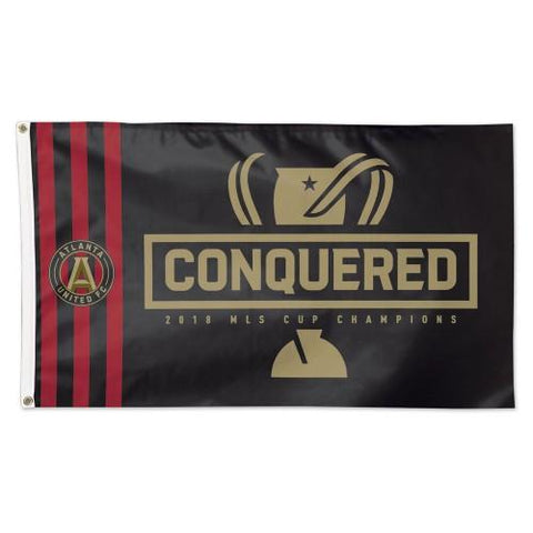 Atlanta United FC 2018 MLS Cup Champions WinCraft Conquered Deluxe Flag (3'x5')