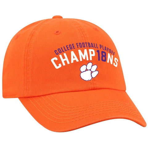 Clemson Tigers 2018-2019 College Football National Champions Orange Adj Hat Cap