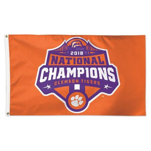Clemson Tigers 2018-2019 Football National Champions Deluxe Flag (3'x5')