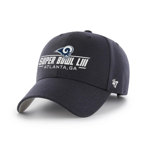 Los Angeles Rams 2019 Super Bowl 53 LIII 47 Brand Navy MVP Structured Hat Cap
