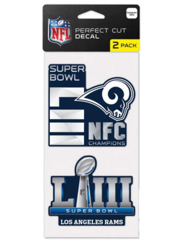 Los Angeles Rams 2018-2019 Super Bowl LIII NFC Champions Decals (2 Pack)